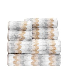 Alicante Zero 6 Piece Twist Towel Set