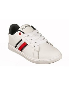 Big Boys and Girls Iconic Court Sneakers