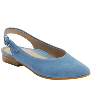 1960s Style Clothing & 60s Fashion Earth Womens Uptown Ursula Sling Back Flats Womens Shoes $87.50 AT vintagedancer.com