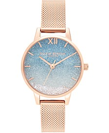 Women's Under The Sea Rose Gold-Tone Stainless Steel Mesh Bracelet Watch 30mm