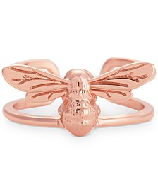Oliva Burton Lucky Bee Statement Ring in Rose Gold-Plated Brass