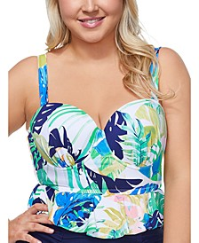 Trendy Plus Size Juniors' Palm Springs Maldives Bikini Top