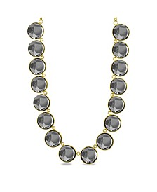Charcoal Circle Stone Necklace
