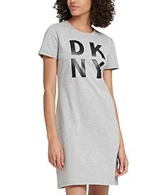 Sport Cotton Stacked-Logo T-Shirt Dress