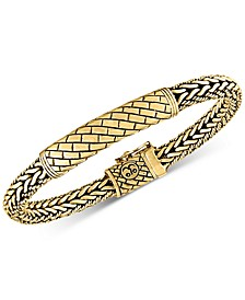 Herringbone Bali Bracelet in 14k Gold-Plated Sterling Silver, Created for Macy's