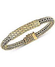 Herringbone Bali Bracelet in 14k Gold-Plated Sterling Silver, Created for Macy's