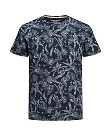Men's Organic All Over Printed Crew Neck Tee Shirt