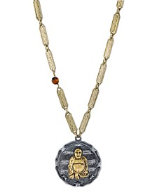 by 1928 14 K Gold Dipped Sitting Budda on Vintage-Like Chain Necklace
