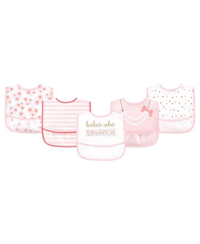 Little Treasure - Baby Boys and Girls Water-resistant Bib Set