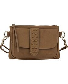 Women's Whipstitch Fashion Crossbody Bag