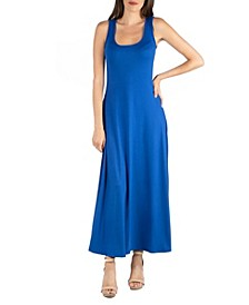 Slim Fit A-Line Sleeveless Maxi Dress