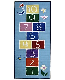 "Fun Time Primary Hopscotch 19"" x 29"" Area Rug"