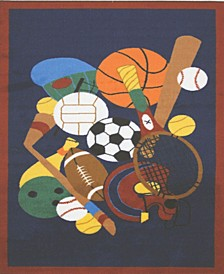 "Fun Time Sports America 19"" x 29"" Area Rug"