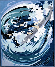 "Fun Time Surfing 19"" x 29"" Area Rug"