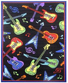 """Fun Rugs Fun Time Guitars 19"""" x 29"""" Area Rug"""