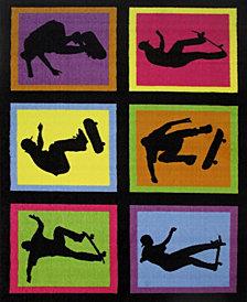 """Fun Rugs Fun Time Skateboarding Fun 19"""" x 29"""" Area Rug"""