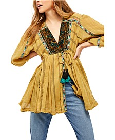 Sabeena Embroidered Tunic Top
