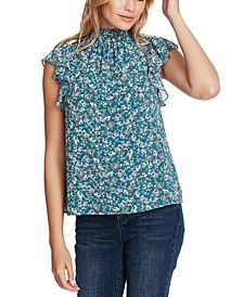 Woodland High-Neck Floral-Print Top