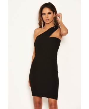 Women's One Shoulder Cut Out Bodycon Dress