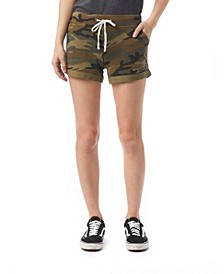 Lounge Printed Burnout French Women's Terry Shorts