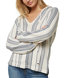 Juniors' Campfire Striped Hoodie