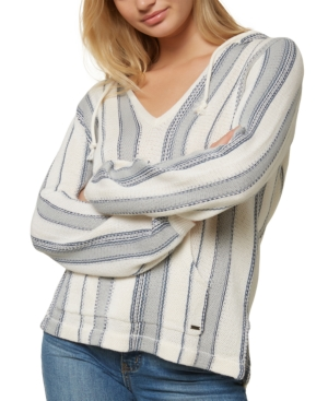 O'neill Juniors' Campfire Striped Hoodie In Blue