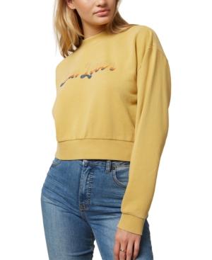 O'neill Juniors' Novie Cotton Cropped Sweatshirt In Blue