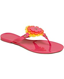 Bella Floral Jelly Sandals
