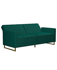 Novogratz Skylar Coil Futon Modern Sofa Bed and Couch