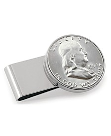 Silver Franklin Half Dollar Stainless Steel Coin Money Clip