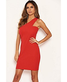 Women's One Shoulder Cut Out Bodycon Dress