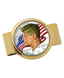 JFK Half Dollar Colorized American Flag Coin Money Clip