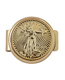 Tribute To 20 Dollar 1933 Saint Guadens Double Eagle Gold Coin Money Clip