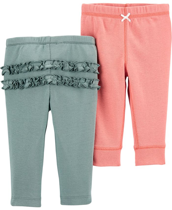 Carter's - Baby Girls 2-Pack Pull-On Cotton Pants
