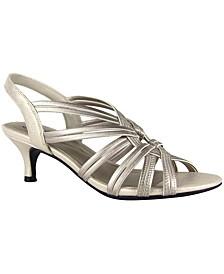 Eileen Stretch Kitten-Heel Dress Sandals