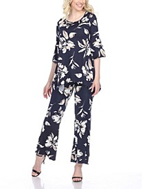 Women's Two Piece Printed Set