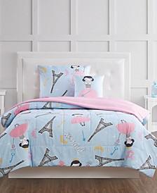 Paris Princess Full 4 Piece Comforter Set