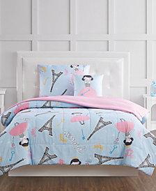 My World Paris Princess Full 4 Piece Comforter Set