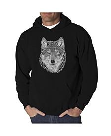Men's Wolf Word Art Hooded Sweatshirt