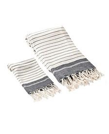 Mila 2 Piece Bath and Hand Towel Set