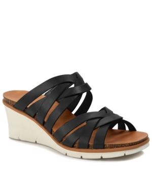 Bonnita Strappy Wedge Sandal Slides Women's Shoes