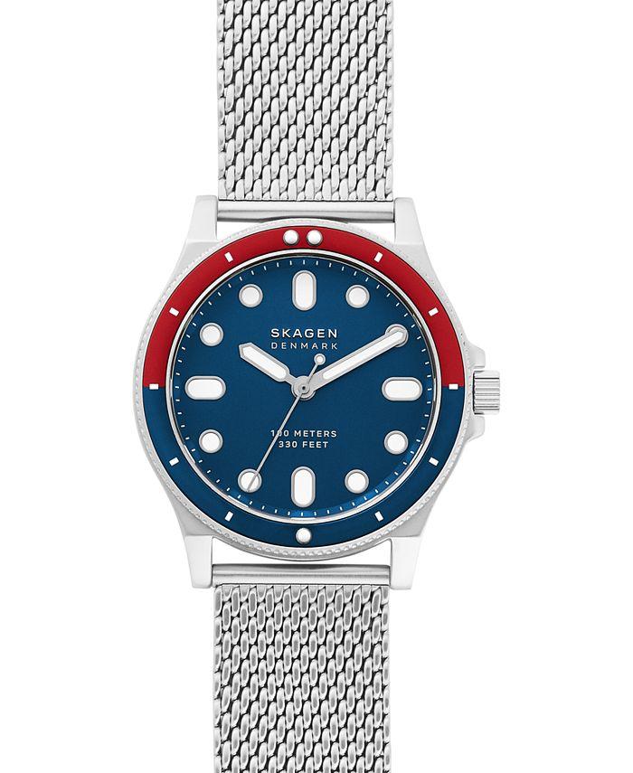 Skagen - Men's Fisk Stainless Steel Mesh Bracelet Watch 42mm
