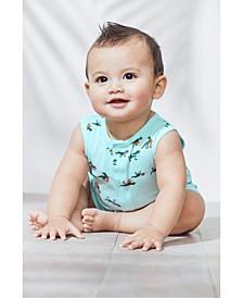 Baby Boys Cotton Dino-Print Romper