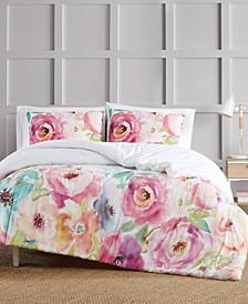 Spring Flowers 3 Piece Comforter Set, Full/Queen