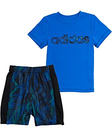Baby Boys 2-Pc. Camo-Print T-Shirt & Shorts Set