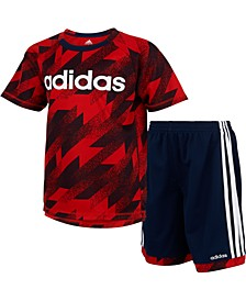 Baby Boys 2-Pc. Printed T-Shirt & Shorts Set