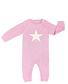 Baby Boys and Girls Organic Bamboo Knit Star Romper