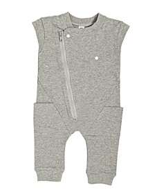 Toddler and Baby Boys and Girls Organic Cotton Short Sleeve Biker Romper