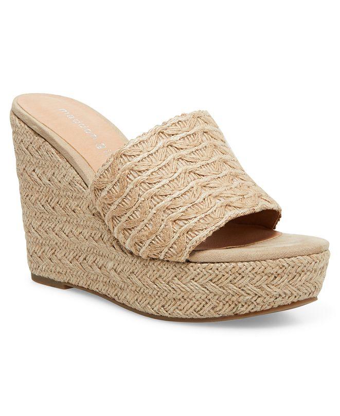Madden Girl Graciee Raffia Platform Wedge Sandals