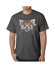 Men's Word Art - Panda T-Shirt
